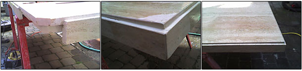 Faultless stone table corner repair